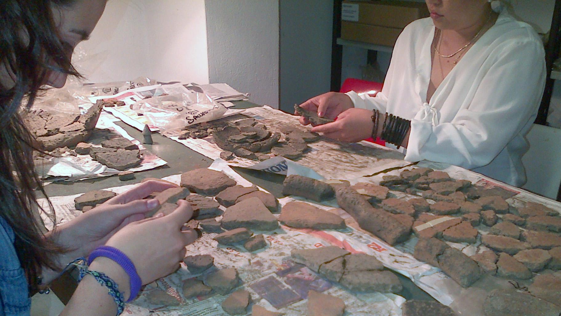 Inventario di alcuni reperti rinvenuti nel luglio del 2013