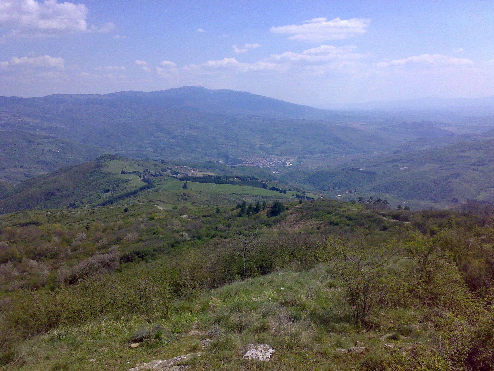 La Valdisieve vista dalla sommità di Monte Giovi