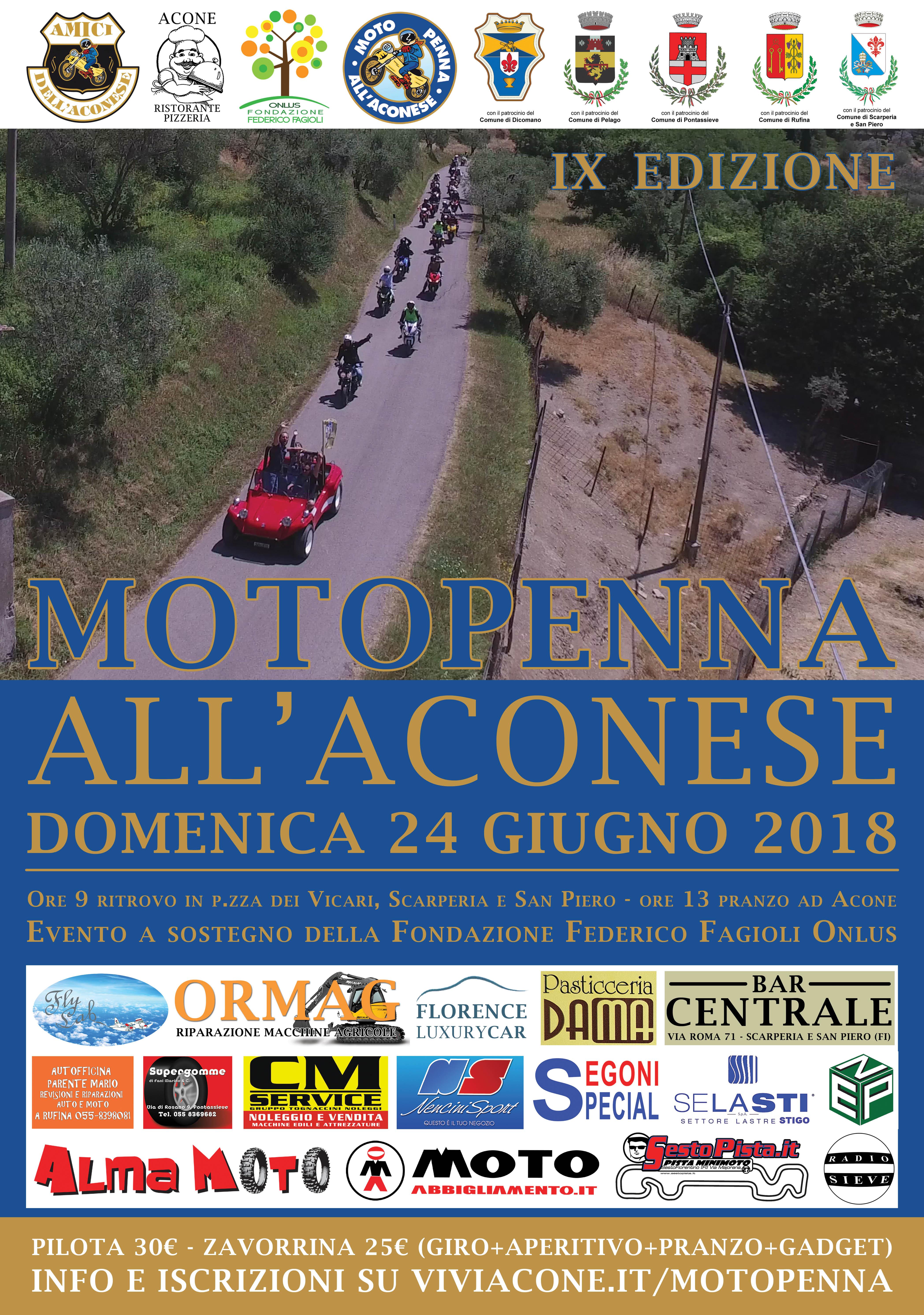 Motopenna all'Aconese - Domenica 24 giugno 2018 dalle ore 9